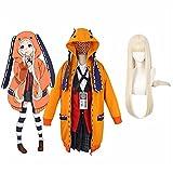 BFBMY Disfraz de cosplay de anime kakegurui yumeko jabami kakegurui doble uniforme cosplay disfraces Halloween niñas ropa mujer trajes unisex (color: A5, tamaño: XL)