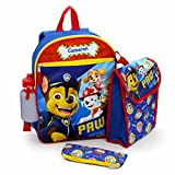 Personalized Backpack with Bonus Lunch Bag, Pencil Case, or Carabiner Clip. (Personalized 14' Paw Patrol Backpack with Bonus Lunch Bag, Water Bottle, Pencil Case, and Carabiner Clip)