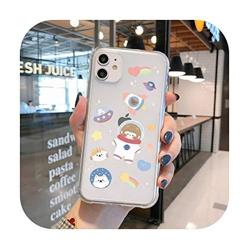 Funda transparente para iPhone 11 12 Mini Pro XS MAX 8 7 6 6S Plus X 5S SE 2020 XR-a11-iPhone SE 2020