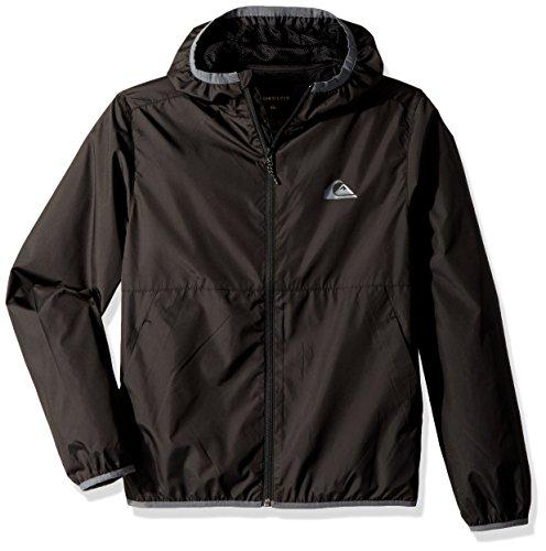 Quiksilver Contrastjackety Windbreaker Jacke für Jungen, 10, Black