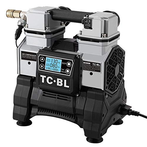 TC·BL Small AC&DC 3-Purpose Air Compressor Compatible with Makita/Milwaukee/Dewalt Battery,Heavy-duty Tire Inflator,Air Pump for Car Tires without Cable