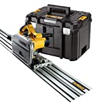 Dewalt DWS520KTR Sierra de perfil de 165 mm prof. Mm 86 1300w + guía de 1.5m, 0 W, 230 V