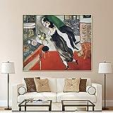 Chihie Berühmte Malerei Der Geburtstag von Marc Chagall