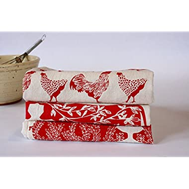 Kitchen Towel Set, Farm Prints