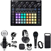 Novation CIRCUIT Groove Box Music Controller Pad/Drum Machine+2) Mics+Headphones