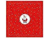 Weihnachtliche Servietten–WEIHNACHTSMANN weiß rot