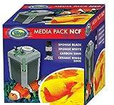 Aqua Nova Media Pack NCF 600 800 Filtro - Anillos de carbono y cerámica y esponja