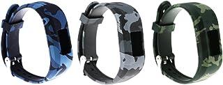3pcs Large Bands for Garmin Vivofit JR/Vivofit JR.2/ Vivofit 3, Replacement Patterning Soft Silicone Wristbands Watch Straps for Garmin Vivofit JR/Vivofit JR.2/ Vivofit 3 Smartwatch