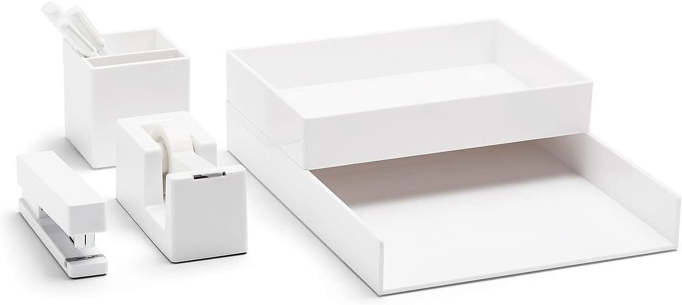 Poppin All Superlatite Set Year-end gift Collection White Desk