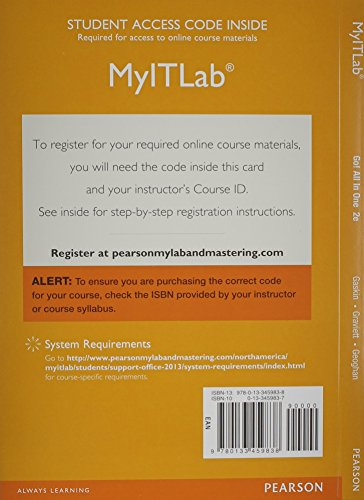 MyLab IT with Pearson eText -- Access Card -- for GO! All In One Computer Concepts and Applications (Spectrum Book)