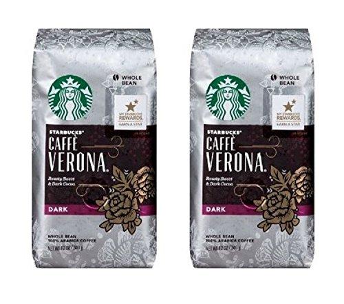 Starbucks Whole Bean Coffee, Caffe Verona, 12 OZ (Pack of 2)