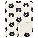 Yoga Sprout Mink Blanket with Sherpa Backing, Bear