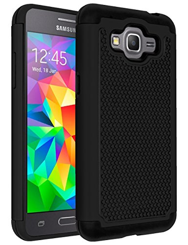 Galaxy J2 Prime Case, Drop Protection Hybrid Dual Layer Armor Protective Case Cover for Samsung Galaxy J2 Prime Black