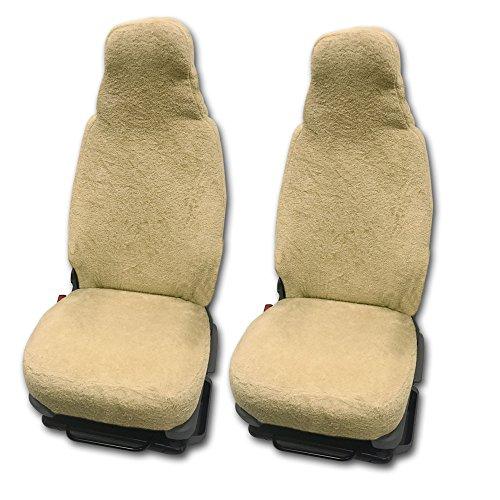RAU Universal Sitzbezuge Schonbezüge aus 100{3d6b33cf7bd6e81ad01218fd11a88c429bb5278ad9f0019e22a57c24f5b2dc57} Frottee Farbe: Sand für Pilotsitze und Wohnmobile