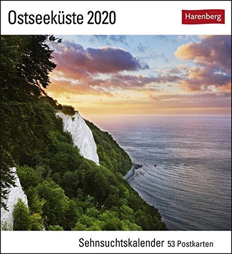 Ostseeküste Postkartenkalender 2020. Wochenkalendarium. Blockkalender. Format 16 x 17,5 cm