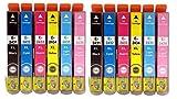 GreenInks - Confezione da 12 cartucce di inchiostro compatibili ad alta capacità, T2438, per stampanti a getto d'inchiostro Epson Expression Premium XP-55, XP-750, XP-850, XP-760, XP-860, XP-950 e XP-960 per stampanti a getto d'inchiostro 24XL ELEPHANT SERIES T2431 nero, T2432 ciano, T2433 magenta, T2434 giallo, T2435 ciano chiaro, T2436 magenta chiaro Chipped, di GreenInks