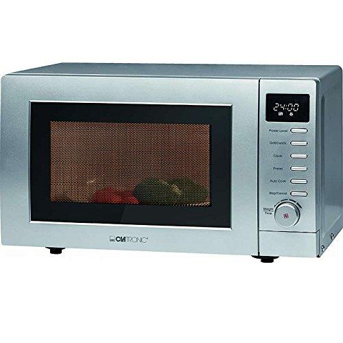 2in1 Mikrowelle mit Grill 1200 Watt (20 Liter Garraum, LED-Anzeige und Timer, Küchenuhr, großes Sichtfenster)