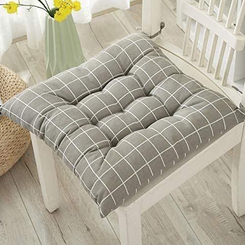 Cojines para Silla Juego de 2 silla de jardín del amortiguador del amortiguador de asiento reclinable Cojín amortiguador trasero de baja amortiguador trasero con lazos for sillas cojines for sillas de