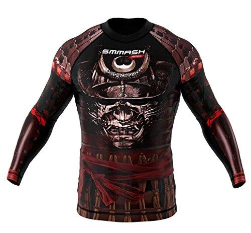 SMMASH Rashguard SAMURAI manica lunga S M L XL XXL XXXL MMA BJJ UFC sport di combattimento (M)