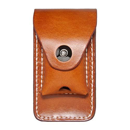 タバコケース 本革 手作り ライター収納 メンズ 金属スナップ閉め 人気