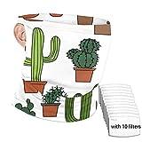 huili Cactus Clipart Set Balaclava Neck Gaiter with Filter Envoltura del cuello del parabrisas