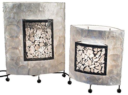 Formano Lampenset mit Muscheldesign, 30+40 cm