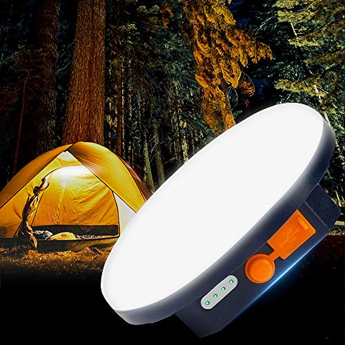 YAYUPRC Camping Lantern USB Rechargeable Led Lantern 1300LM Ultra Bright Lantern Lights for Outdoor, Waterproof Lightweight Portable Electric Lanterns for Camping, 9900mAh, 4 Lighting Modes