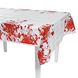 Fun Express - Zombie Party Tablecover for Halloween - Party Supplies - Table Covers - Print Table Covers - Halloween - 1 Piece