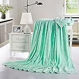 Toalla De Algodón Lavable A Máquina Manta De Algodón Gruesa Verano Suave Y Cómodo (versión Verde)