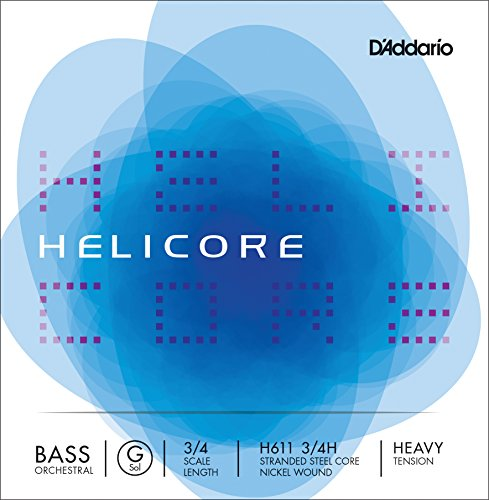 D'Addario H611 3/4H - Cuerda para contrabajo de níquel en Sol, 3/4 (tensión alta)