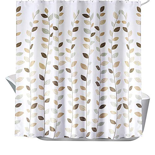 SearchI Duschvorhang Wasserdicht Anti-Schimmel Anti-Bakteriell für Badezimmer 180x180cm Blätter