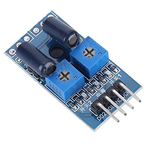 Denash Erschütterungssensor-Sensormodul mit 2 Kanälen und normalerweise offenem Typ