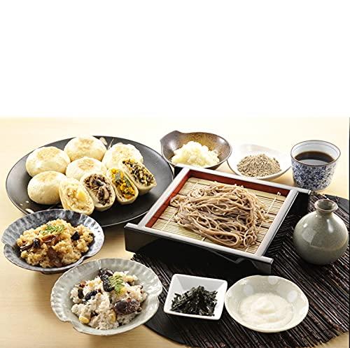 健康長寿食ギフトセット (蕎麦・つゆ2人前、薬味セット(海苔、わさび、大根おろし)、おこわ2種、おやき×9種) (通常)