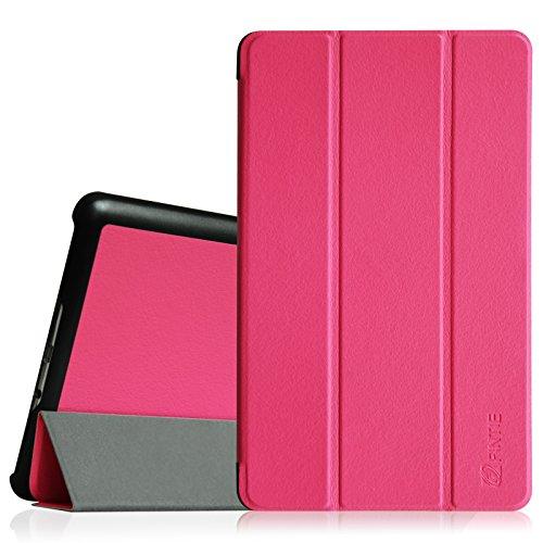 Fintie Hülle für Samsung Galaxy Tab S 8.4 - Ultra Schlank superleicht Ständer SlimShell Cover Schutzhülle Etui Tasche mit Auto Schlaf/Wach Funktion, Magenta