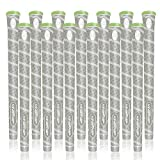 Lehui Golf Grips Set of 13 (Free 13 Tapes) Hybrid Golf Club Grips, Standard/Mdisize, 6 Colors Optional. (Gray, Standard)