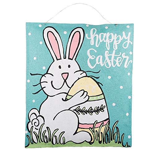 Glory Haus Happy Easter Bunny Burlee 18.5x22