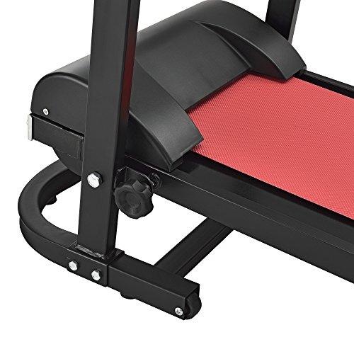 51GA3JEpqUL - [in.tec] Cinta de Correr [roja] mecánica (NO automático) con Pantalla LCD Plegable Entrenamiento en casa Fitness