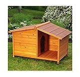 eCommerce Excellence - Caseta para perros de madera y con techo. Ideal para...