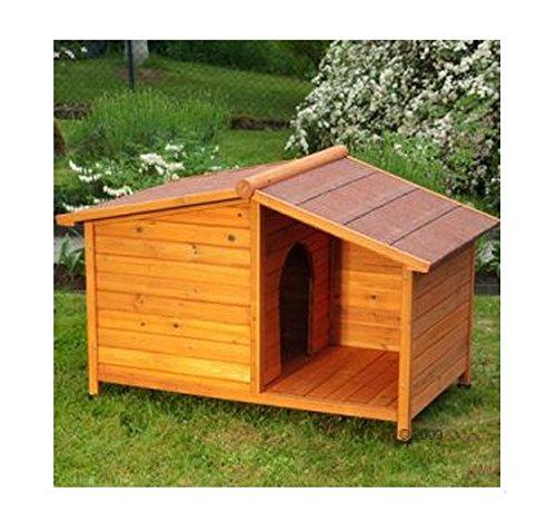 e-Commerce Excellence Niche en bois avec toit pour protéger votre chien ou chat de la pluie ou lui offrir de l'ombre en été