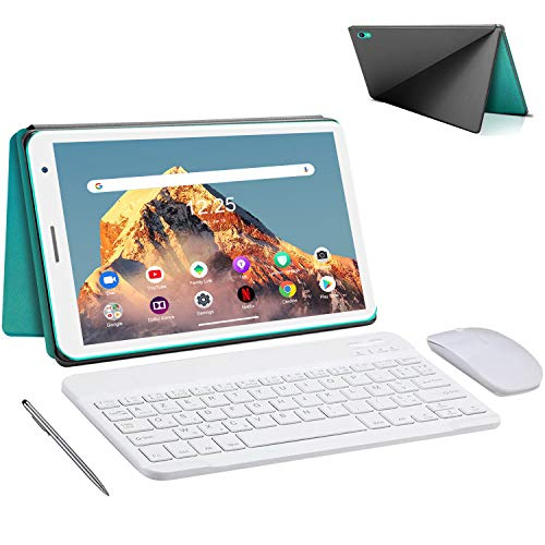 Tablet 8.0 Pollici con Wifi Offerte 3GB RAM 32GB 128GB Espandibili Android 10.0 Certificato Google GMS 1.6Ghz Tablet PC 5000mAh Tablet in Offerta 5MP Fotocamera Tablet Android Bluetooth(Verde)