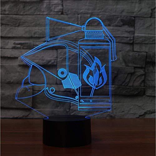 Vuurgevechten Gereedschap 3D Tafel Lamp 7 Kleuren Led Touch Nachtlampje Kids Geschenken USB Lampara Fire-Kit Baby Slaap Licht Fixture Decor