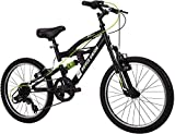 Royce Union Kids Aluminum Mountain Bike, Boys, Dual Suspension, 6-Speed 20inch, RTX, Black (73509)
