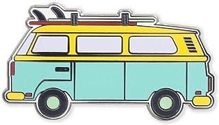 Retro Van with Surfboard Rack Hard Enamel Lapel Pin