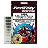 FastEddy Bearings 9x20x6 Rubber Sealed Bearing 699-2RS (10 Units)