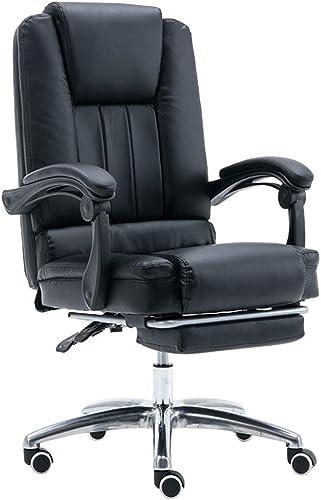 Chaise de bureau chaise d'ordinateur Ordinateur Chaise de bureau Chaise d'ordinateur à la maison Confortable en cuir PU fauteuil de bureau ascenseur réglable chaise tournante ( Couleur   noir )