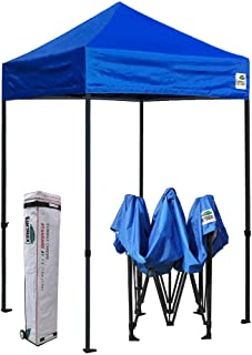 Eurmax 5x5 Ez Pop up Canopy Outdoor Heavy Duty Instant Tent Pop-up Canopies Sun Shelter with Deluxe Wheeled Carry Bag (Royal Blue)