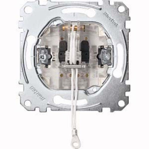 Merten MEG3186-0000 Zug-Wechselschalter-Einsatz, 1-polig, 10 AX, AC 250 V, Steckklemmen