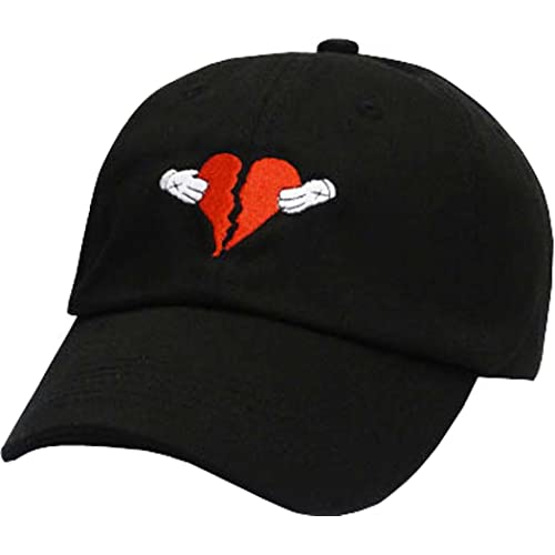 d36a1bcb130 FGSS Mens Heart Break Embroidery Adjustable Cotton Strapback Dad Hat  Baseball Cap