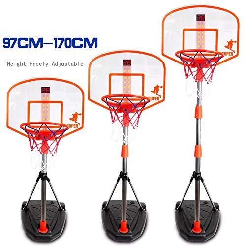 Alan 170cm Canasta Baloncesto Infantil Ajustable Aro de Baloncesto para Niños con Dispositivo de Puntuación