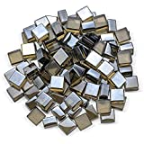 American Fireglass 1/2' Square Modern Shaped Fire Glass Luster Finish Fire Pits Fireplaces Indoors...